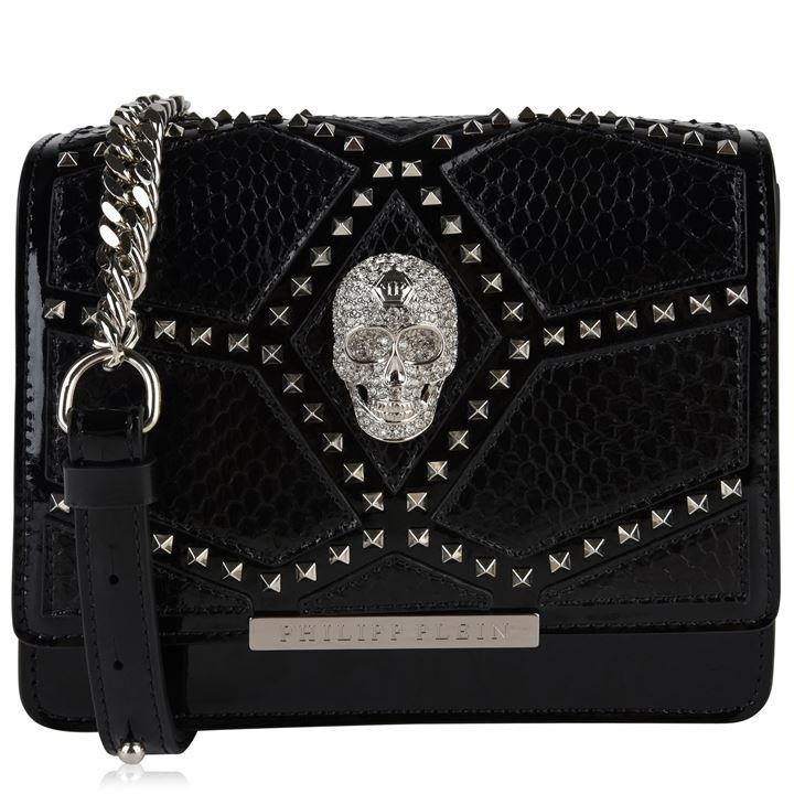 PHILIPP PLEIN Mini Skull Shoulder Bag – Noir